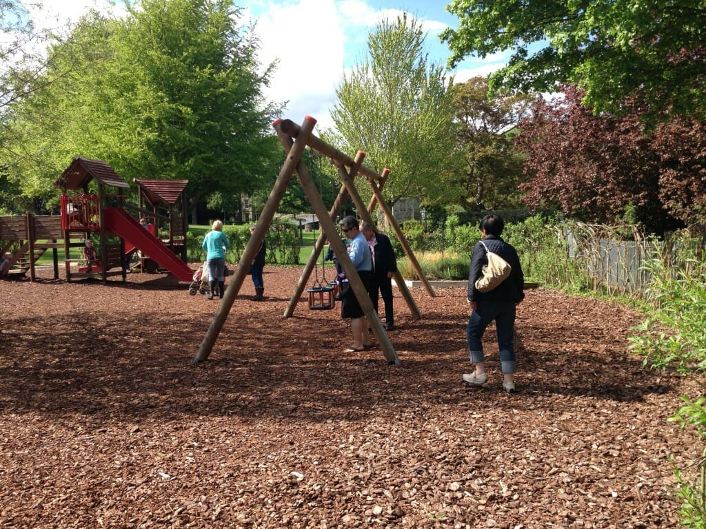 A playground at the Abbey Gardens broadens the appeal
