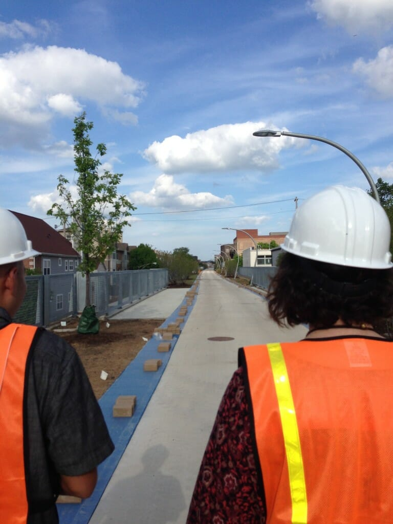 Under construction at the time of visit, the 606 will accommodate runners with a special padded lane
